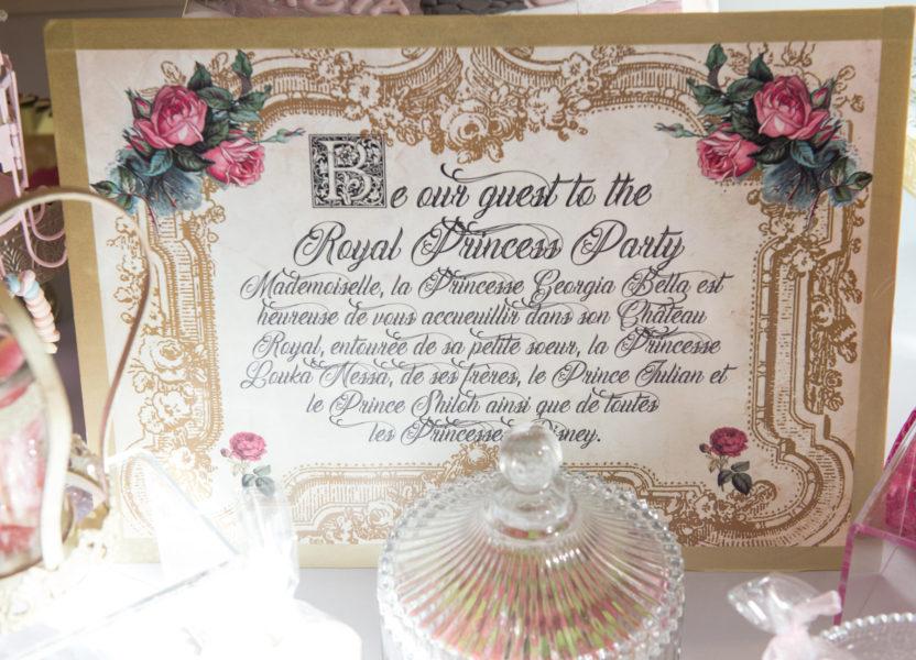 décoration princesses feuille belles écritures
