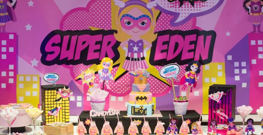 Super Eden buffet super héros gâteaux enfants événement anniversaire