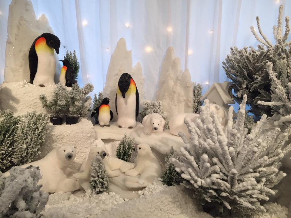 Pingouins hiver corporate neige ours blanc décoration