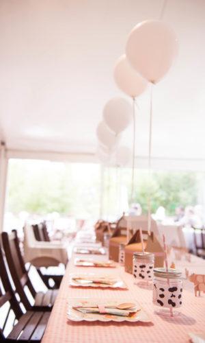 Ballons table décoration fête événement