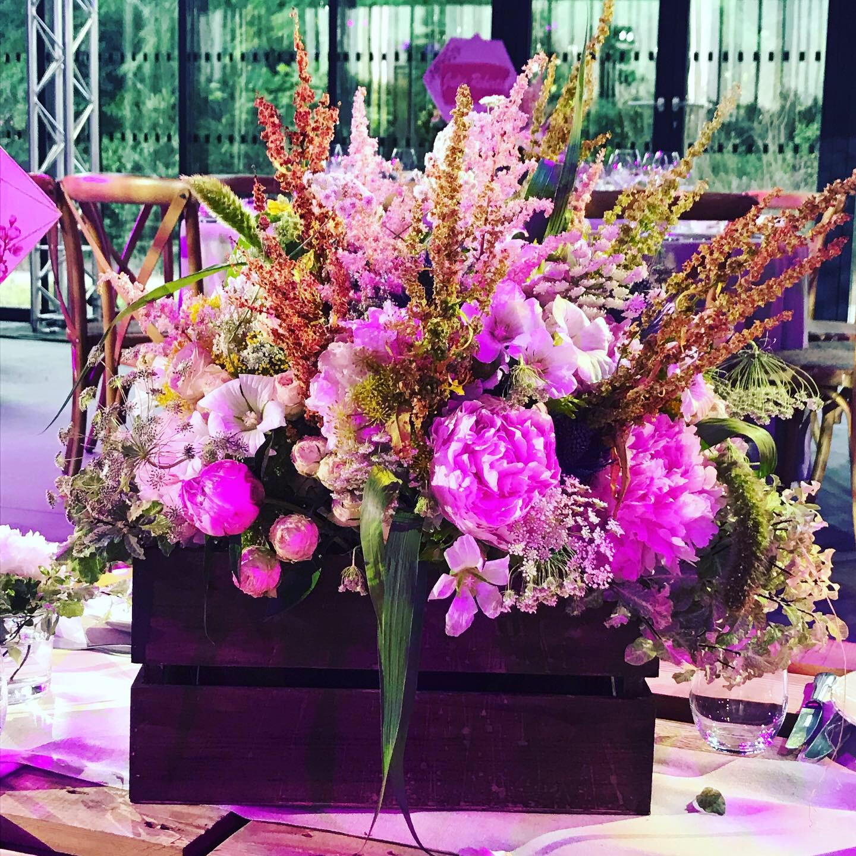 fleurs pot décoration bar mitzvah