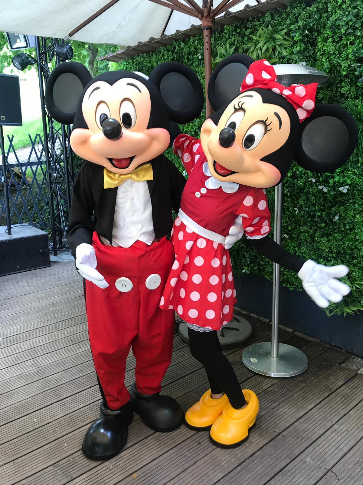 Mickey Minnie mascotte costumes enfants idoles